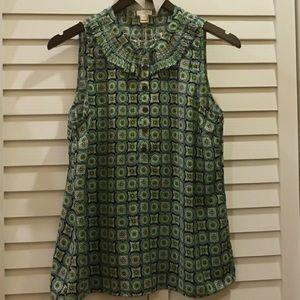 J. Crew beautiful print blouse